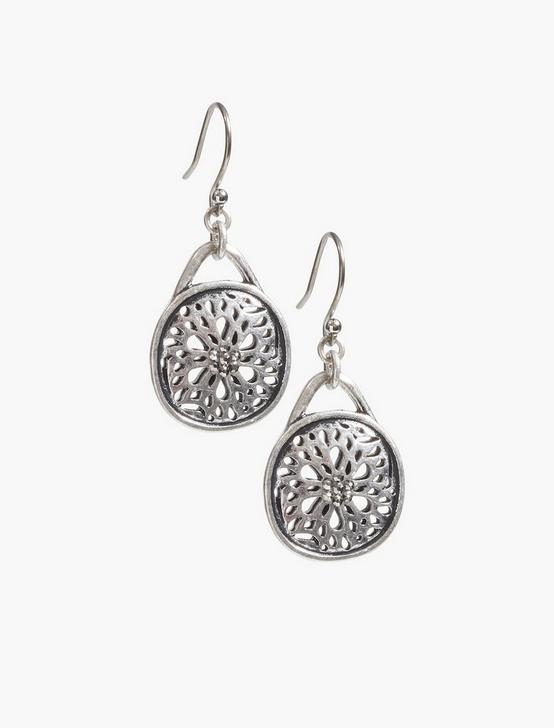 SUGAR PLUM DROP EARRING, SILVER, productTileDesktop