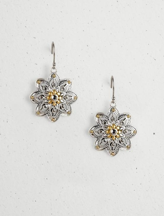 FLOWER DROP EARRINGS, MULTI, productTileDesktop