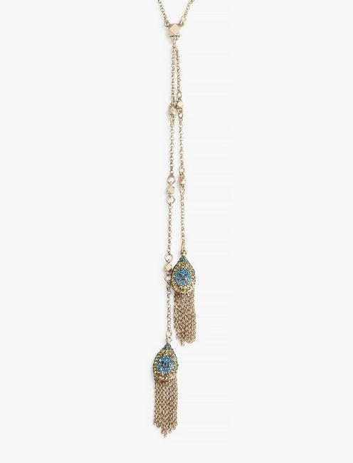 DOUBLE PEACOCK LARIAT, GOLD