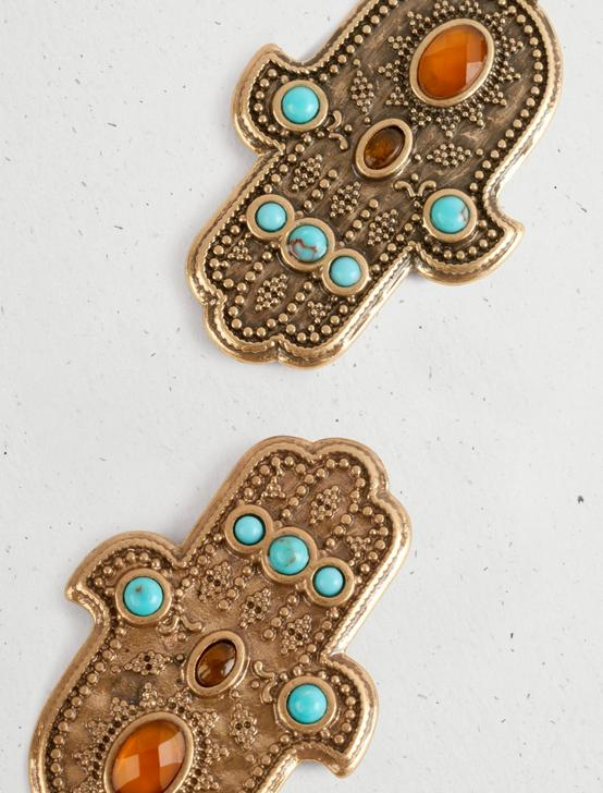 HAMSA EARRING, GOLD, productTileDesktop