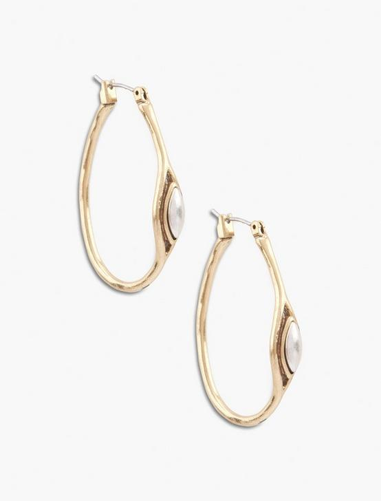 TWO TONE HOOP EARRING, MULTI, productTileDesktop