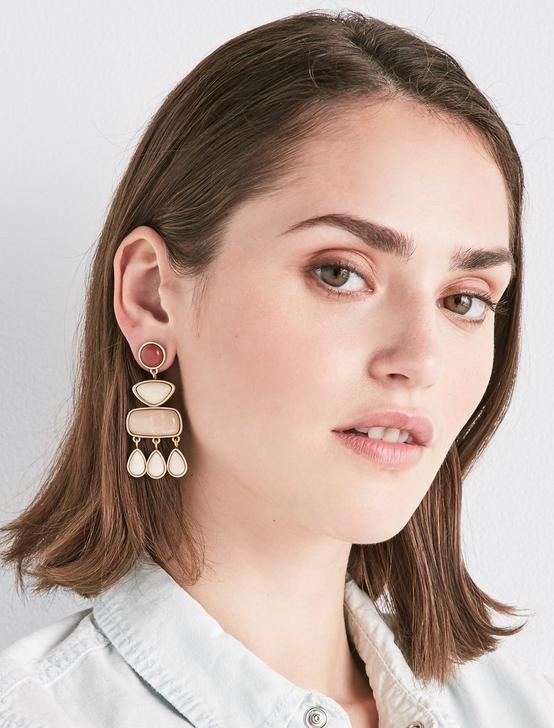 STONE STATEMENT EARRING, GOLD, productTileDesktop