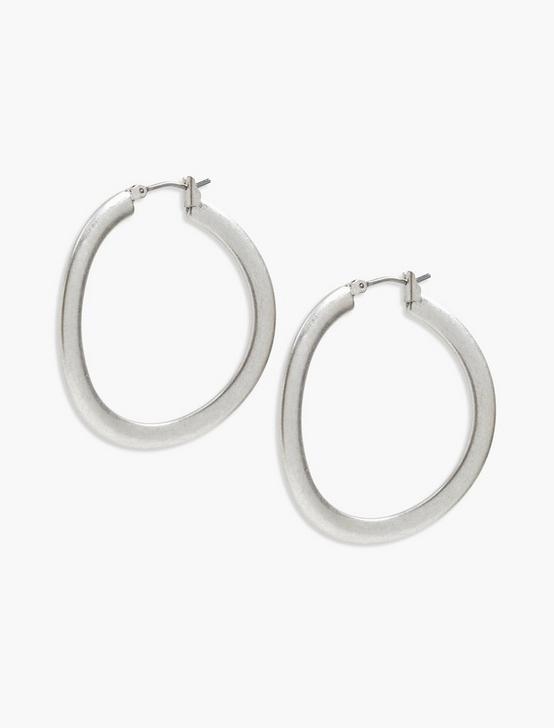 BRUSHED SILVER HOOP, SILVER, productTileDesktop