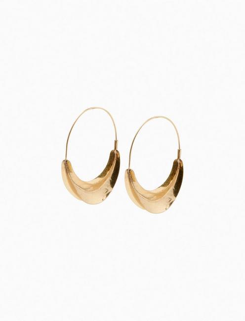 GOLD ORGANIC HOOP,