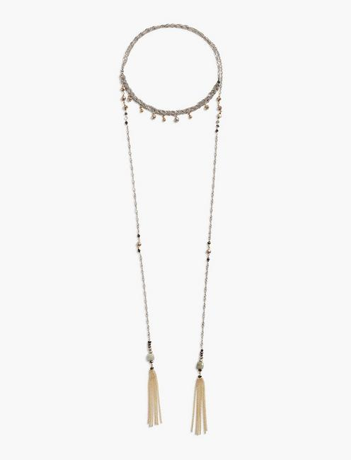 BEADED WRAP NECKLACE,