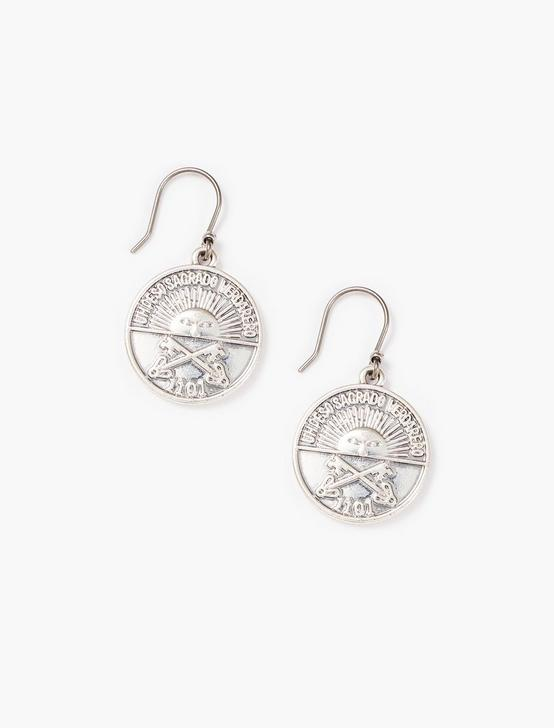 COIN DROP EARRINGS, SILVER, productTileDesktop