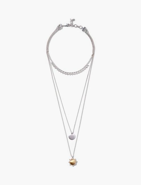SATIN LAYER NECKLACE,