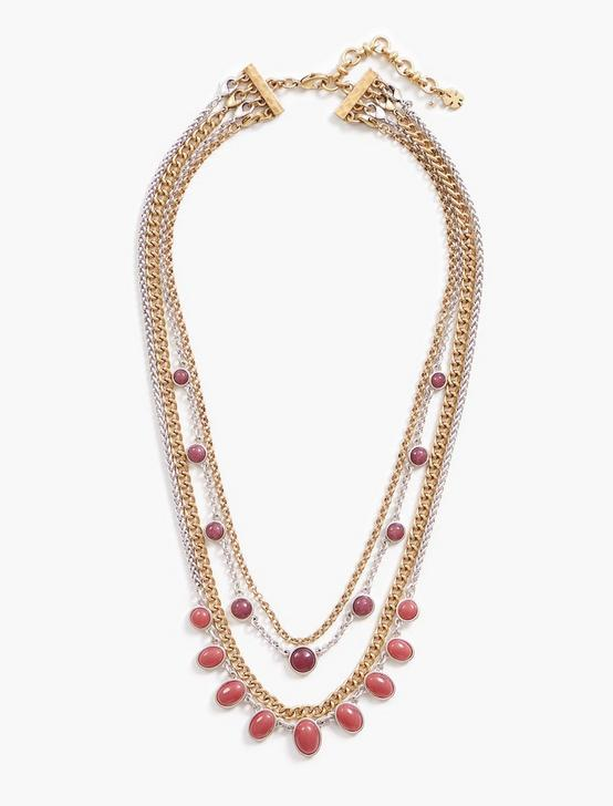 BERRY LUCKY LAYER CHOKER, TWO TONE, productTileDesktop