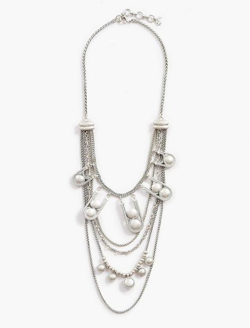 LAYER CHAIN BEAD NECKLACE,