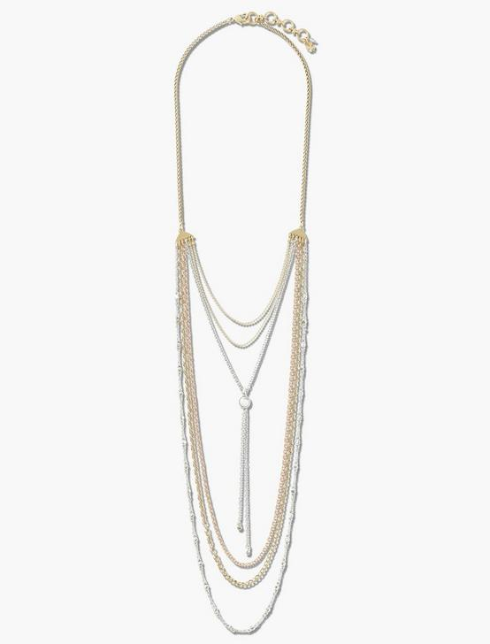 CHAIN LAYER NECKLACE, TWO TONE, productTileDesktop