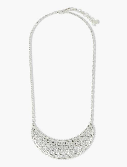 OPENWORK PAVE COLLAR NECKLACE, SILVER