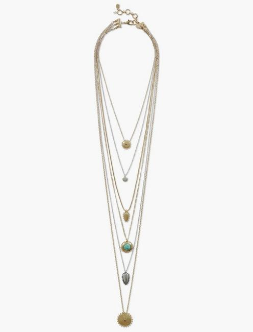 SET STONE LUCKY LAYER NECKLACE,