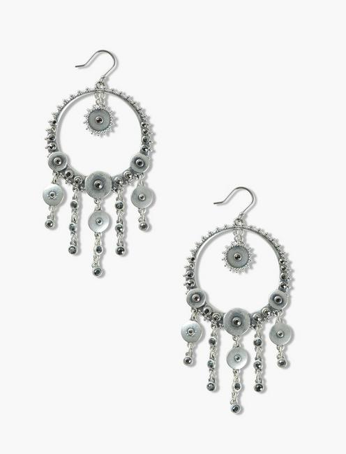 Lucky Pave Disc Statement Earrings