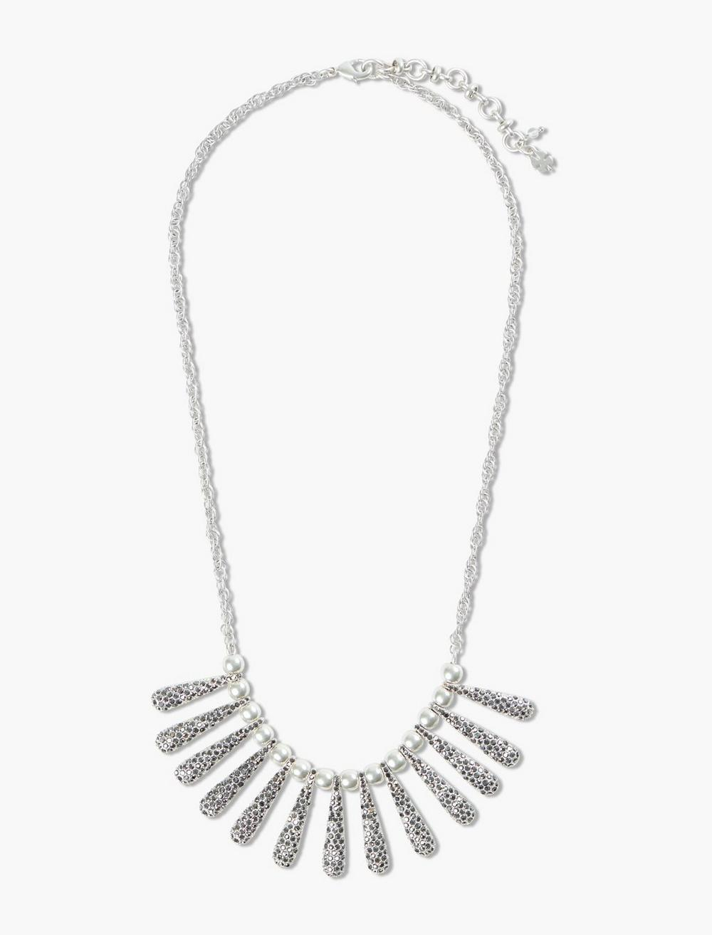 PAVE SPIKE COLLAR NECKLACE, image 1