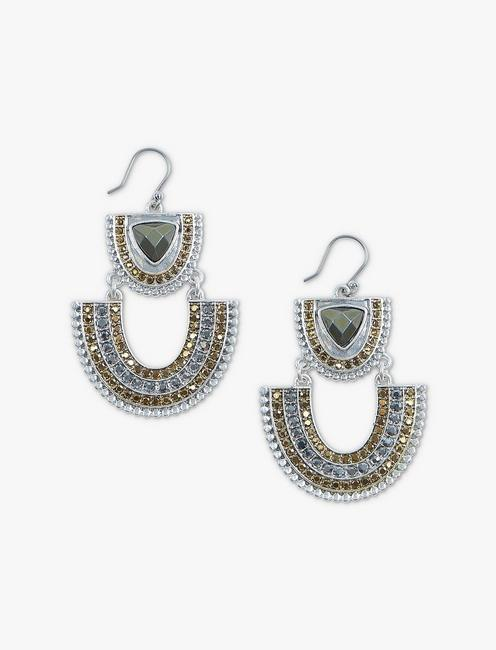 TRIBAL PAVE STATEMENT EARRINGS,