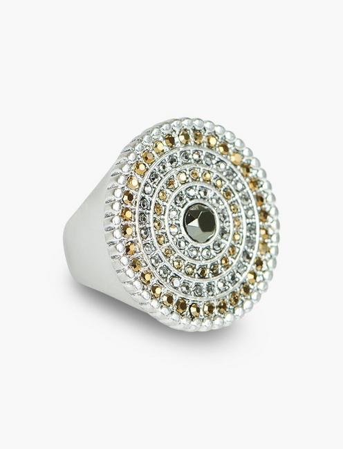 TRIBAL PAVE STATEMENT RING,