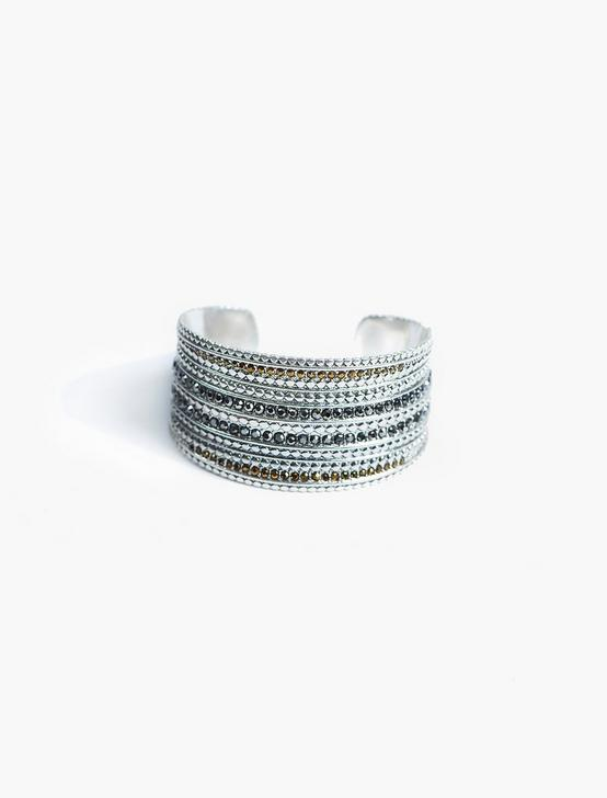 PAVE CUFF, SILVER, productTileDesktop