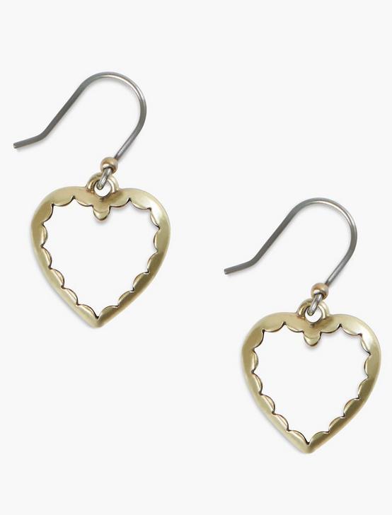 HEART DROP EARRINGS, GOLD, productTileDesktop