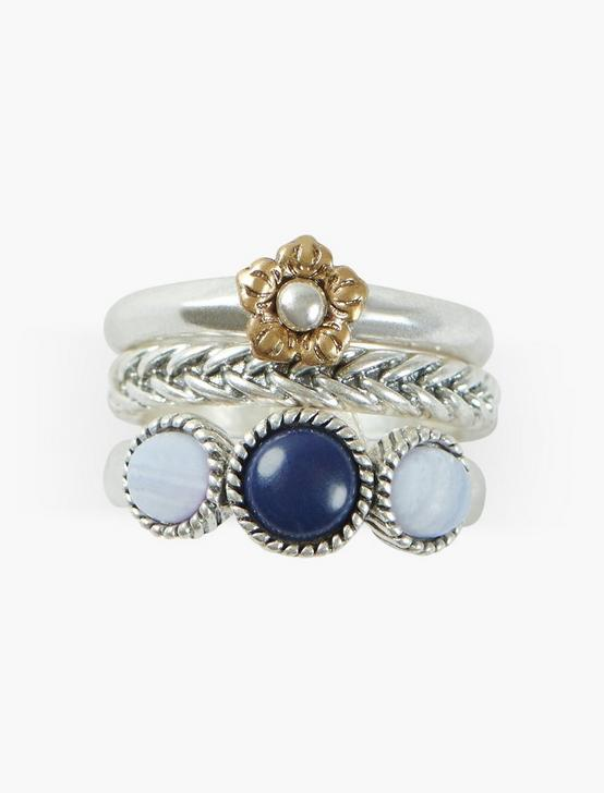 LACE AGATE RING STACK, TWO TONE, productTileDesktop