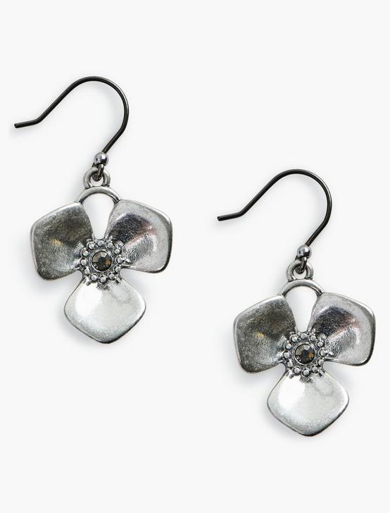 SILVER FLOWER DROPS, SILVER, productTileDesktop
