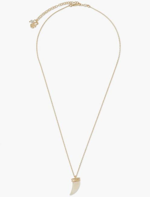 TUSK AND STONE NECKLACE SET, GOLD