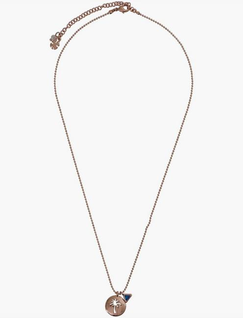 PALM TREE NECKLACE SET, TWO TONE