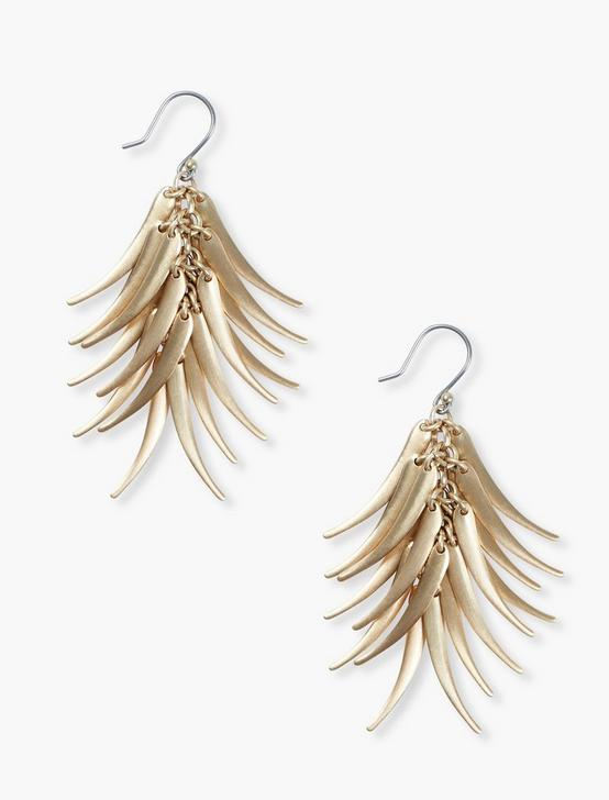 ELONGATED PETAL EARRINGS, SILVER, productTileDesktop