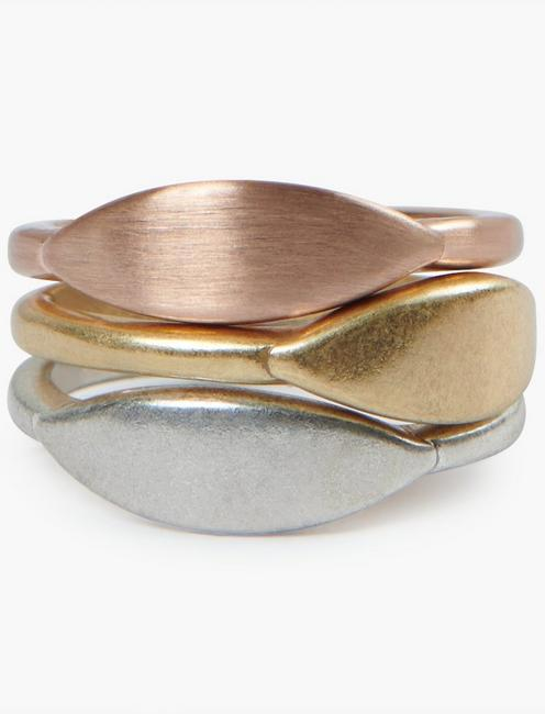 TRIPLE STACK METAL RING,