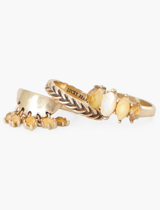 CITRINE RING STACK, GOLD, productTileDesktop