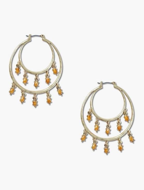 SET STONE DANGLE HOOP, GOLD, productTileDesktop