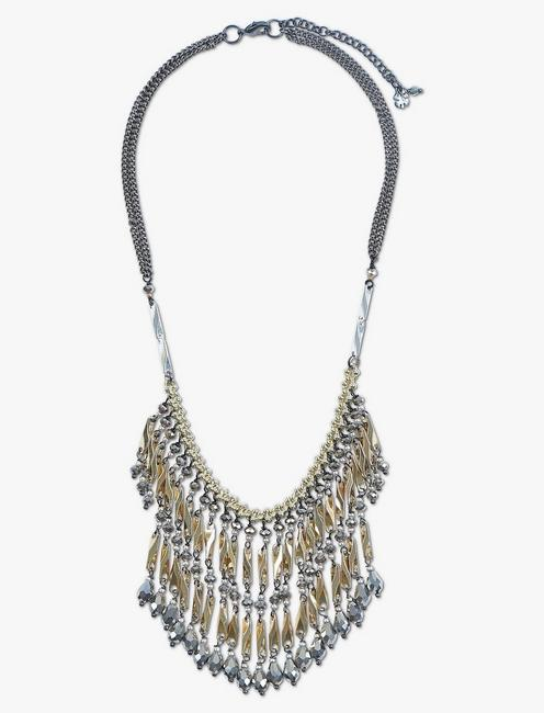 GOLD AND GREY COLLAR NECKLACE,