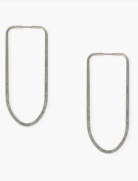 SILVER LONG HOOPS, SILVER, productTileDesktop