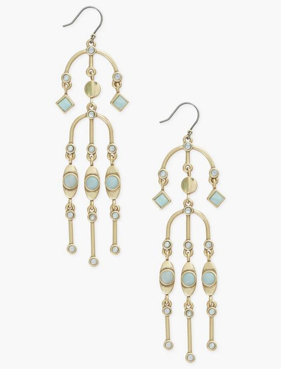 SET STONE EARRINGS, GOLD, productTileDesktop
