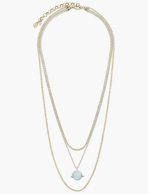 SET STONE LAYER NECKLACE,