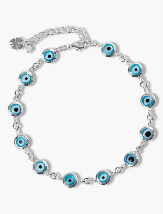 EVIL EYE ANKLET - SET OF 2, TWO TONE, productTileDesktop