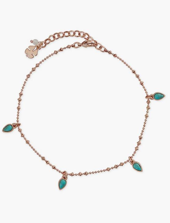ROSE GOLD CHARM ANKLET - SET OF 2, ROSE GOLD, productTileDesktop