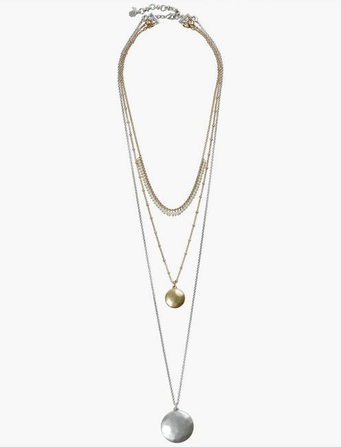 LUCKY LAYER NECKLACE, TWO TONE