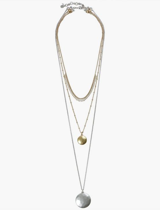 LUCKY LAYER NECKLACE, TWO TONE, productTileDesktop
