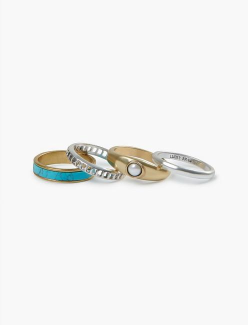 ARIEL BLUE RING STACK,