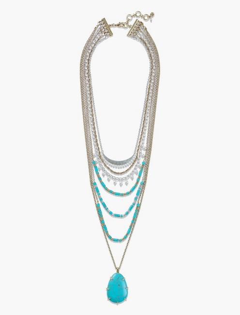 TURQ STATEMENT NECKLACE,