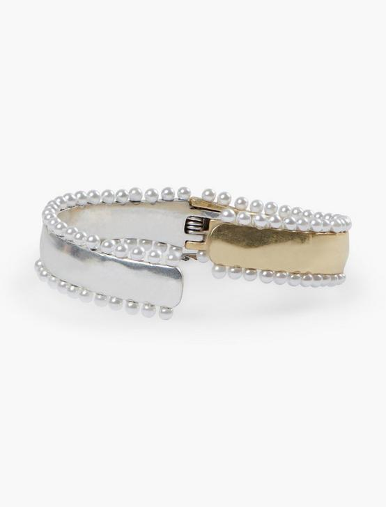 PEARL CUFF, TWO TONE, productTileDesktop