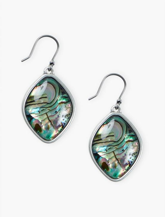 ABALONE DROP EARRING, SILVER, productTileDesktop
