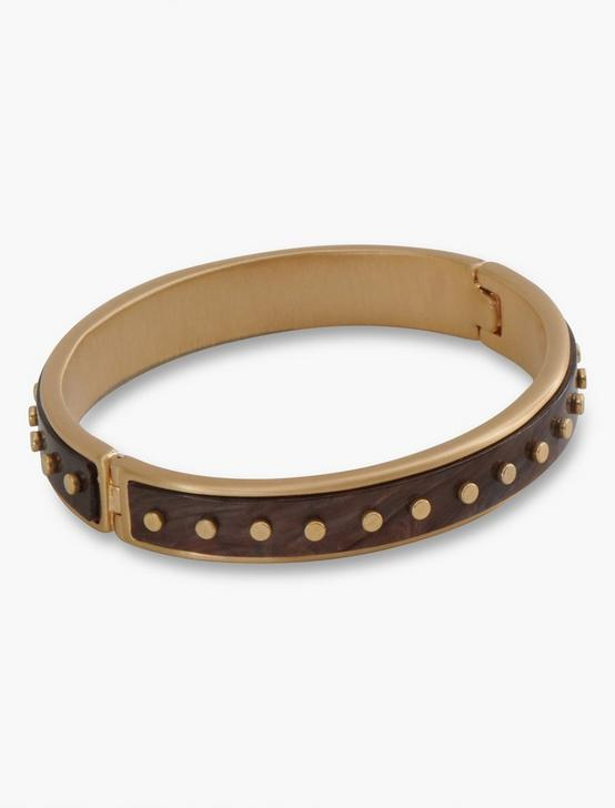 ACETATE GOLD RIVET BRACELET, GOLD, productTileDesktop