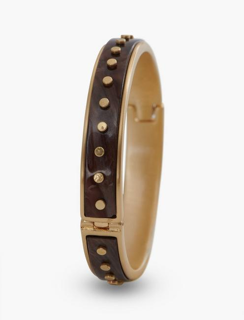 ACETATE GOLD RIVET BRACELET, GOLD