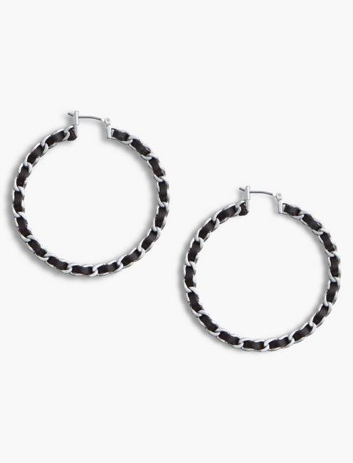 LEATHER WRAP HOOPS,