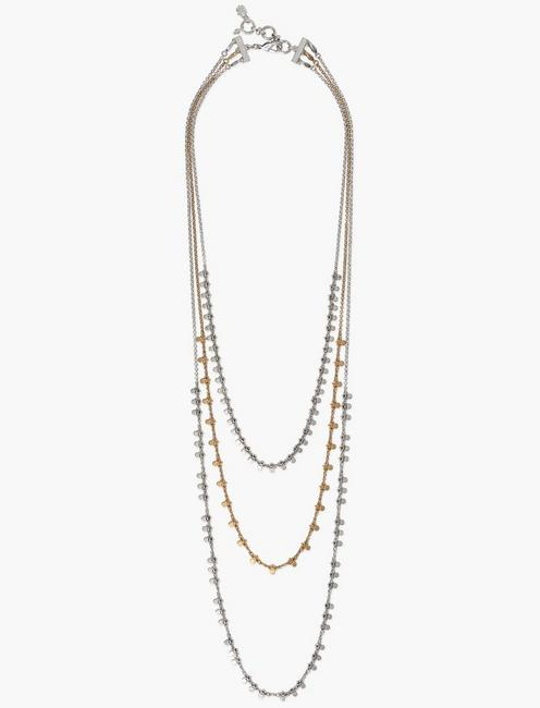 TWO TONE POINT LAYER CHAIN NECKLACE, TWO TONE
