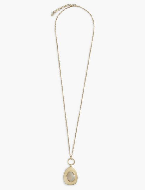 CHAMPAGNE MOTHER OF PEARL NECKLACE, TWO TONE