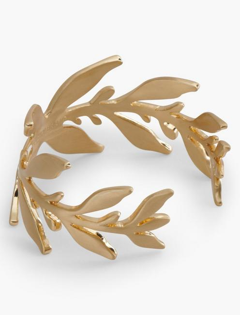 GOLD ORGANIC LEAF CUFF, GOLD
