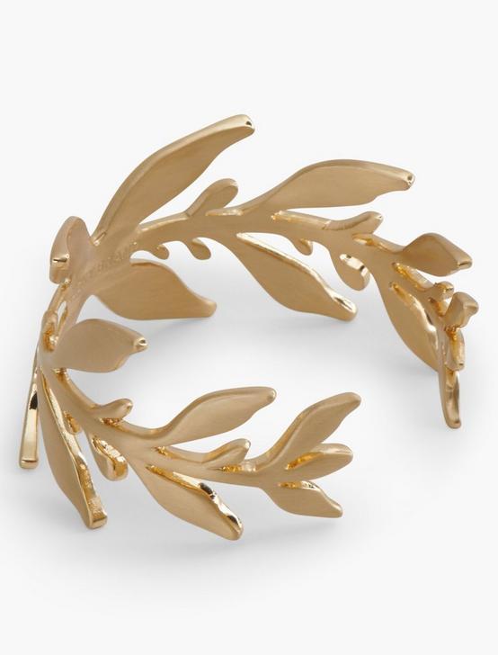 GOLD ORGANIC LEAF CUFF, GOLD, productTileDesktop