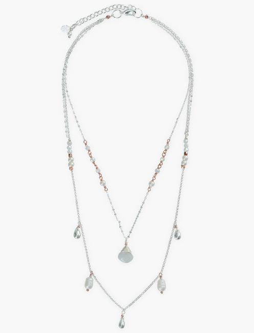 Silver Mop Layer Necklace